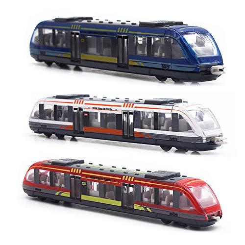 CORPER TOYS Train Set High Speed Lotomotive Engine Die Cast Model Car Sliding Subway Train for Kids Set of 3