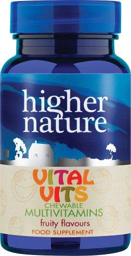 Vital Vits - Childrens chewable Multi-Vitamins - Higher Nature - 30 Tablets