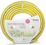 REHAU QUATTROFLEX Plus + Gartenschlauch Wasserschlauch PVC gelb, 15 Meter 1 1/4'