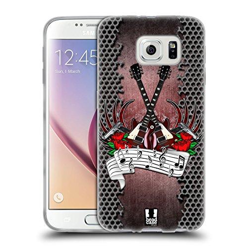 Head Case Designs Rock Generi Musicali Cover in Morbido Gel e Sfondo di Design Abbinato Compatibile con Samsung Galaxy S6