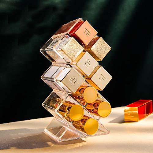 Gitter Acryl Lippenstift Schöne Organizer Box Stehendes Make-up Lagerregal Tisch Lipgloss Halter Transparenter Kosmetikbehälter