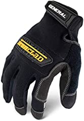HIGH PERFORMANCE TASK SPECIFIC WORK GLOVE - The number one selling Ironclad work glove HAND SAFETY -  Thermoplastic rubber knuckle protection provides impact and abrasion protection across the knuckles SECURE FIT - Adjustable Hook and Loop Closure pr...