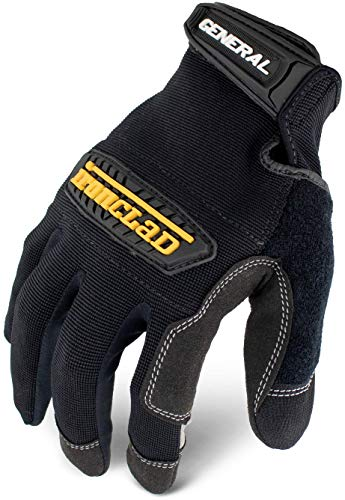 Ironclad General Utility Work Gloves GUG, All-Purpose, Performance Fit, Durable, Machine Washable, (1 Pair), Medium - GUG-03-M , Black