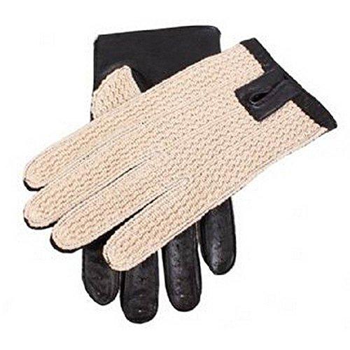 Dents Noir Coton Crochet Retour conduite gants 10 10