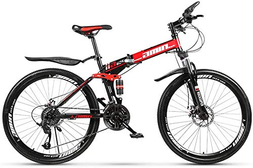 Xin Hai Yuan Adult Mountainbikes, 26-Zoll-Mountainbikes, unlegierter Stahl Faltrad, 21-Gang-Fahrräder mit Doppelscheibenbremsen,