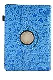 Funda con diseño Original con Dibujos y función Giratoria para Tablet Bq Edison 3 Quad Core 10.1' - Azul Dibujos