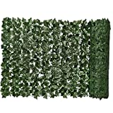 Siepe artificiale Green Leaf Faux Ivy recinto privacy parete pianta falsa Sfondo Erba decorativo per esterna Garden0.5x3m