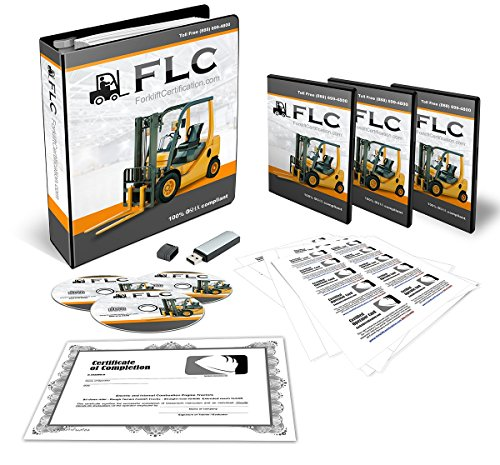 OSHA Compliant Forklift Operator COMPLETE Training Kit + Train the Trainer BUNDLE! Certificates Of Completion, Operator Cards, Student Hand Outs, Hands On Evaluation Checklist, & More!