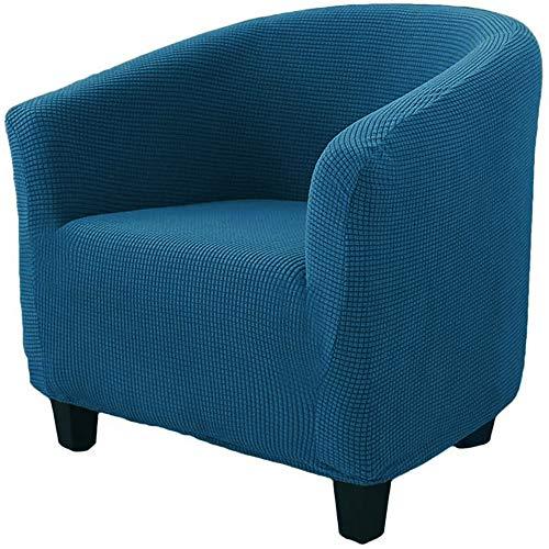 Zhongdalian Funda Elástica para Sillón- Funda de Sofá Individual Cubre Sillón Butaca Sala de Estar 1 Asiento (Azul)