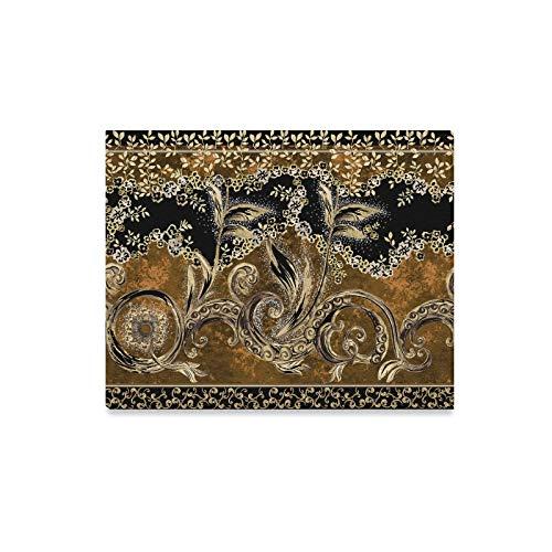 Home Wandmalerei Metallic Goldbraun Muster Kunst Haus Dekor Wandkunst Küche Leinwanddrucke Druck Dekor für Zuhause 20x16 Zoll