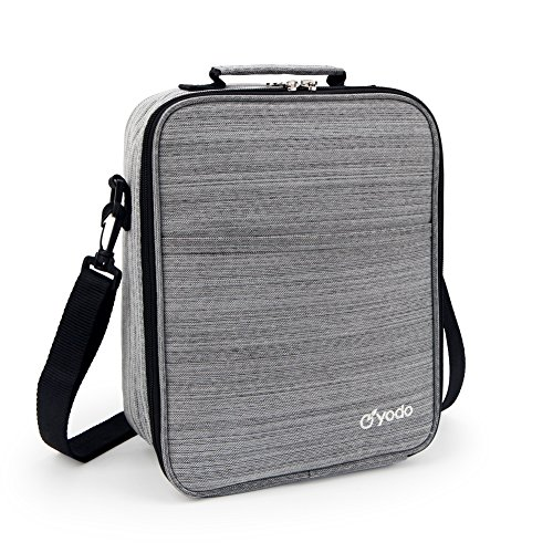 yodo Large Lunch Bag Tote Reusable Insulated Leakproof Cooler Food Box for Adults Kids Men Women, for Meal Prep for Work or School, 25% LARGER Storage, Gray