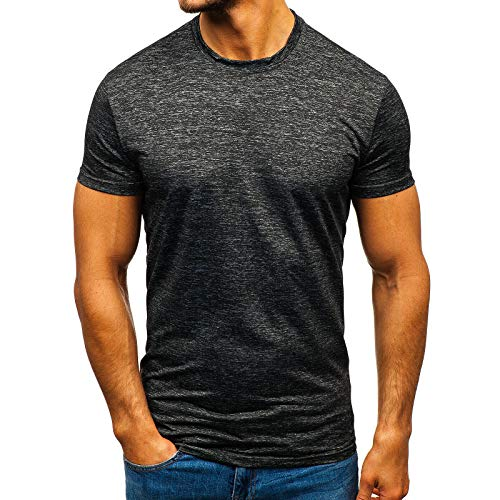 SSBZYES Camiseta para Hombre Verano Camiseta de Manga Corta para Ropa Deportiva para Camiseta Deportiva Informal de Secado rápido Camiseta de Manga Corta de Color sólido de Gran tamaño con Cuello