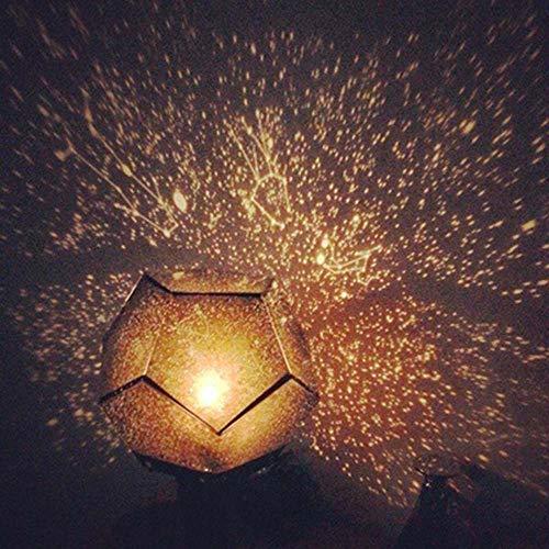 DKEE USB 1pc del proyector del Cielo de la lámpara Blanco Caliente Creativo/romántica/Combinación de Bricolaje Libre 10.0 * 10.0 * 5.0cm