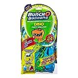Zuru 56185B Bunch O Balloons Party, 40 Sekunden, Refill Pack mit 24 Ballons und Adapter, mit Dino Motiv, bunt