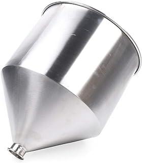 OUKANING Entonnoir en acier inoxydable - 30/40/50 l - Grand entonnoir à confiture - Entonnoir pour la cuisine (50 l)