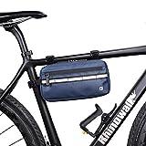Asvert 3L Bolsa de Manillar Bicicleta MTB Multifuncional,Bolsa Impermeable para Manillar,Bolsa Bici Manillar Universal para Cualquier Bicicleta(Azul)