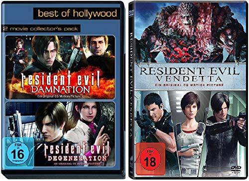 Resident Evil: Degeneration + Resident Evil: Damnation + Vendetta [DVD Set]
