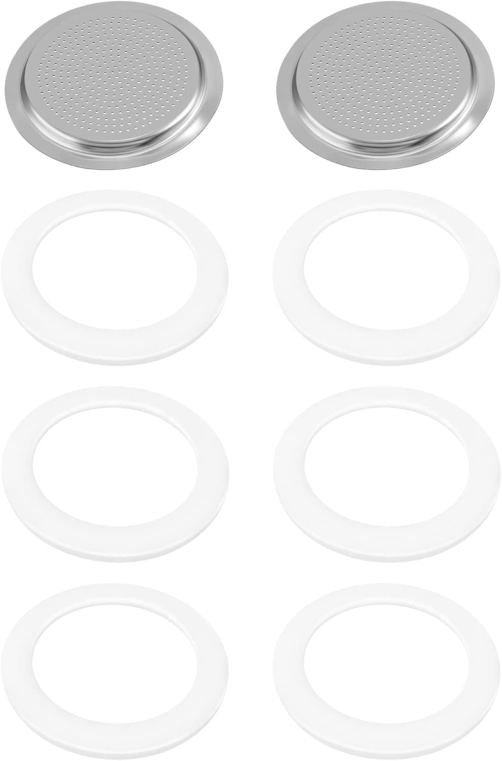 6 Max 41% OFF Pieces Silicone Gaskets Tulsa Mall with 2 Piece Gasket S Filter Stainless
