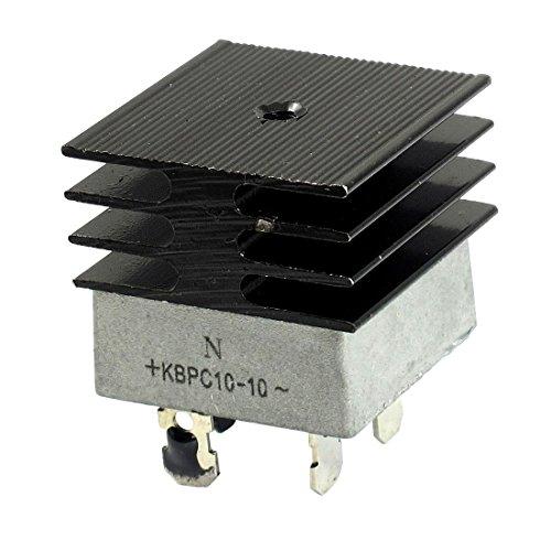 KBPC10-10 10A 1 KV monofásico puente rectificador de media onda del blanco w del disipador de calor