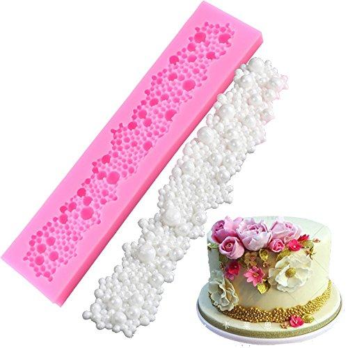 Kentop stampo in silicone per muffin per cuocere e fai da te, collana di perle fiore per torte, muffin, sapone fatto a mano, biscotti, cioccolato, cubetti di ghiaccio