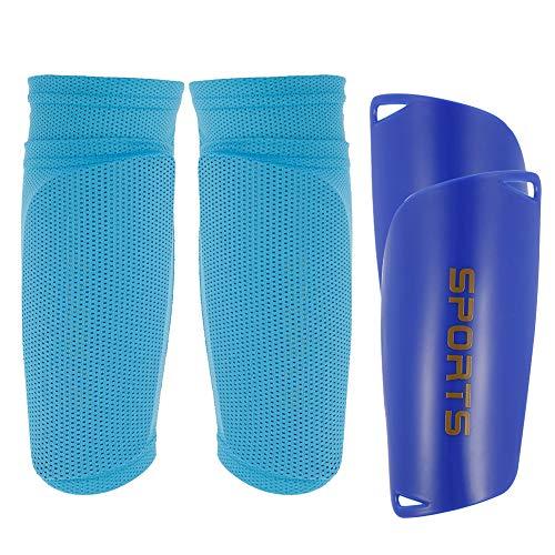 Xinstroe - Schienbeinschoner für Fußball in Blau-M, Größe M
