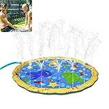 Pool aufblasbar, 100cm Garten Sprinkle Splash Spielmatte, Wasserspray Spielzeug Kinder Baby Pool Sprinkler Pad niedlich