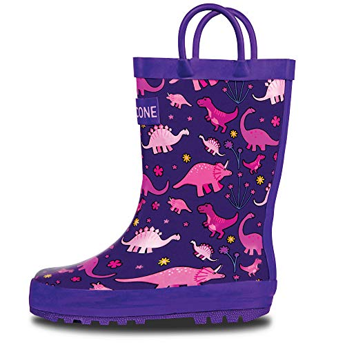 LONECONE Rain Boots with Easy-On Handles in Fun Patterns for...