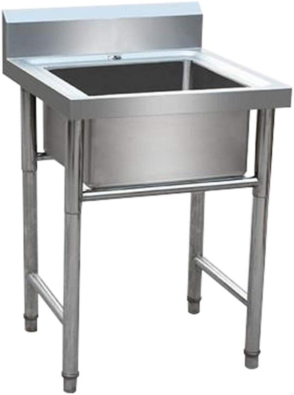 Edelstahlspüle Einzelwaschbecken Verdicken 9 Zoll tief Kommerziell Geeignet für Küche, Outdoor, Garten