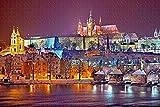 Checa el Castillo de Praga 1000 Pieza de Rompecabezas Juego de Puzzle de obras de Arte para Adultos,de Alta Definición de Paisaje Jigsaw Rompecabezas para Adultos Adolescentes Niños de la Familia y A