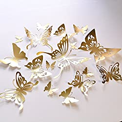handmade wall hanging with paper - butterflies