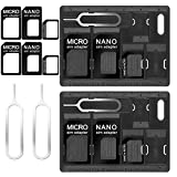 CKANDAY 2 Packs SIM Card Holders with Tray Opener Pins, Card Storage Tool Set for Standard Micro Nano Micro-SD Memory...