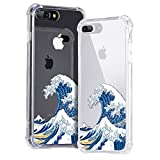 Idocolors For iPhone 7 Plus / 8 Plus Case Shockproof Waves