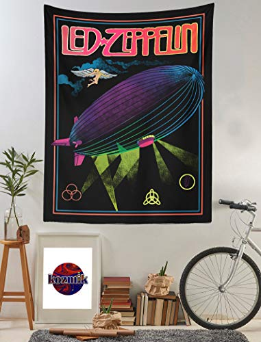 Tapiz de pared LED Zeppelin, arte para colgar en la pared, decoración de tapiz