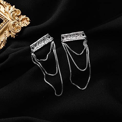 Pendientes vintage punk para mujer, diseño de gota irregular, cuadrados, largos, con borla, de cristal, para boda, joyería de regalo (color de metal: 1, tamaño: normal)