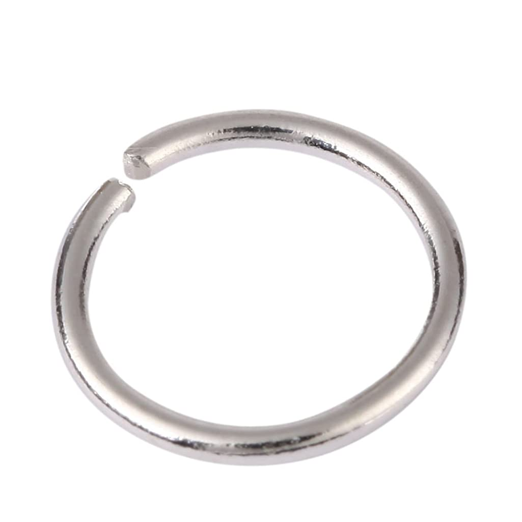 20pcs Genuine Sterling Silver Open Jump Rings 10mm Connectors (Wire ~21GA or 0.7mm) for Jewelry Craft Making SS14