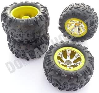 Traxxas 1/16 Mini Summit VXLYELLOW Tires & WHEELS12mm Geode (e-revo Slash RAL
