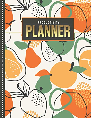 Productivity Planner: Abstract Pear Apple Orange - Fruit Art...