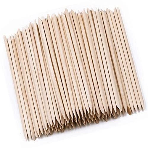 Natury Nails 25 piezas de Palos de Madera de Naranjo de 11cm para Manicura, Pedicura, Nail Art y Manualidades