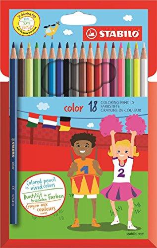 STABILO color matite colorate colori assortiti - Astuccio da 18