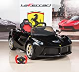 BIG TOYS DIRECT BigToysDirect 12V Ferrari LaFerrari Battery Operated Kids Ride On Car with MP3 and Remote Control - Black