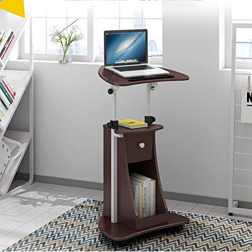 CDXZRZYH Ordenador portátil Escritorio de pie Escritorio de la computadora Escritorio Flotante Ajustable móvil con Notebook de Almacenamiento Mesa de Noche (Color : A)