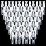 80 Pièces Mini Flacons Pulvérisateurs Flacons Vaporisateurs de Voyage Transparents Bouteilles Vides Rechargeables Bouteilles d'Atomiseur de Parfum Plastique avec Couvercles pour Parfum Huiles