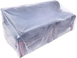 HGMart Plastic Outdoor Loveseat Cover 5.5 Mil Extra Thick Pet Dog Cat Furniture Cover Waterproof Dust-Proof for Garden Lawn Patio Furniture Protector (Loveseat)