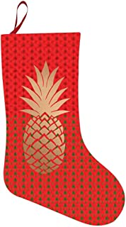69PF-1 Christmas Stocking Gold Pineapple Fireplace Decoration Socks Candies Toys Gifts Party Accessory