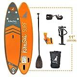 Kangui - Stand up Paddle 335cm Sup Gonflable + pagaie + Sac à Dos + Pompe Haute Pression + Leash + kit de réparation- Bali