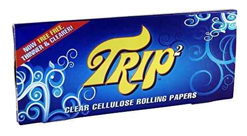 Trip 2 transparente Blättchen aus Zellulose durchsichtige Papers 12x Trip2 Papers