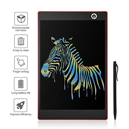 LCD Writing Tablet 9.7 Inch Colorful Screen Display Electric Magnetic Memo Board Message Pads Kids Drawing Pad with Smooth Gradient Stylus