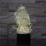 Fantasía Vela Piratas del Caribe Luces 3D Gadgets Lindo Regalos para Bebé Decoración Visual Led...