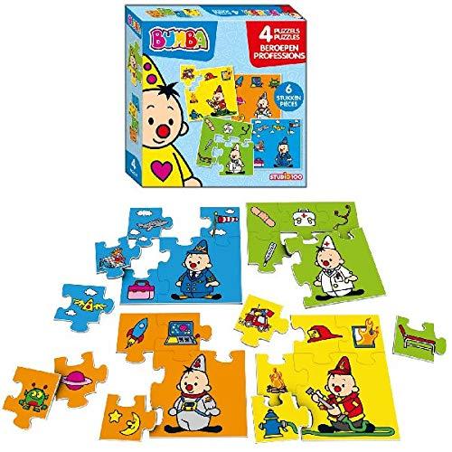 Bumba 4-in-1 puzzel - beroepen
