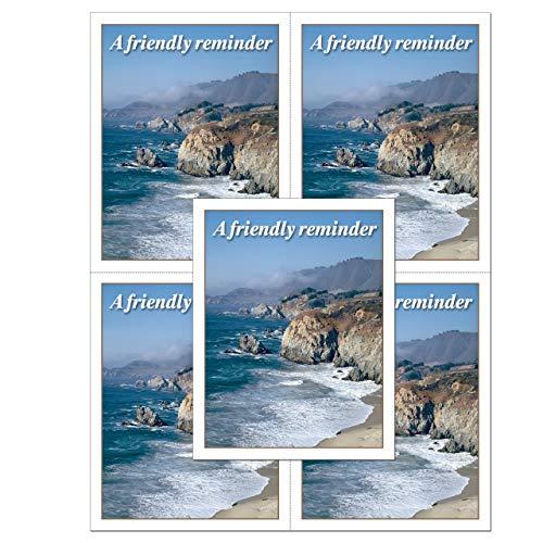 Laser Reminder Postcards, Dental Appointment Reminder Postcards. 4 Cards Perforated for Tear-Off at 4.25
